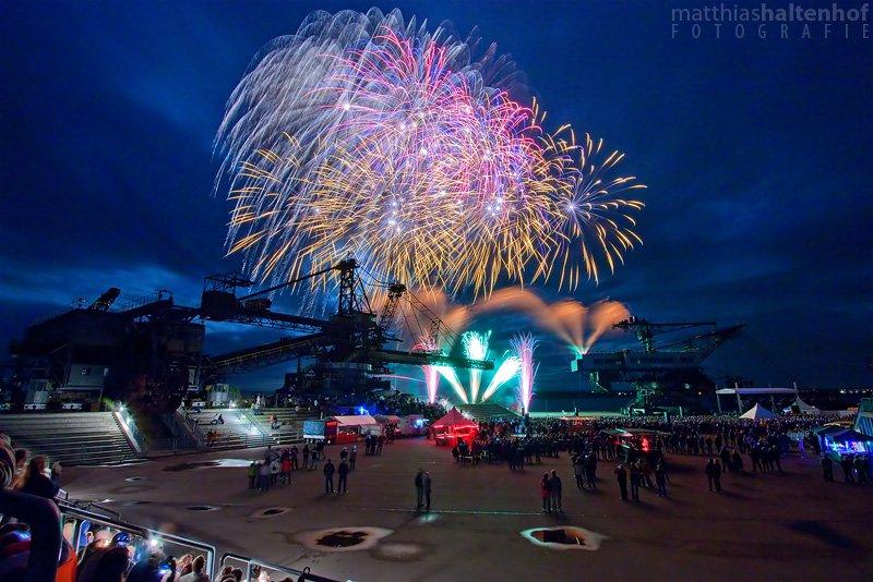 Feuerwerk fotografieren - Pyrogames Ferropolis