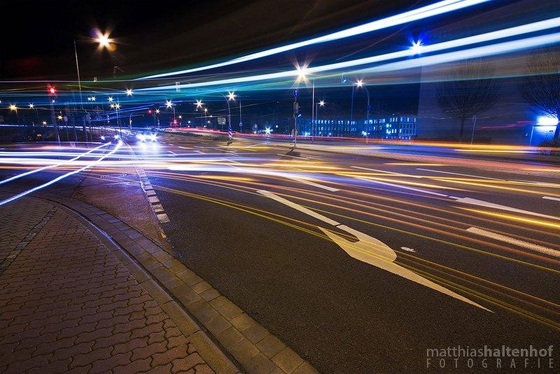 Nachtaufnahme in Dessau.