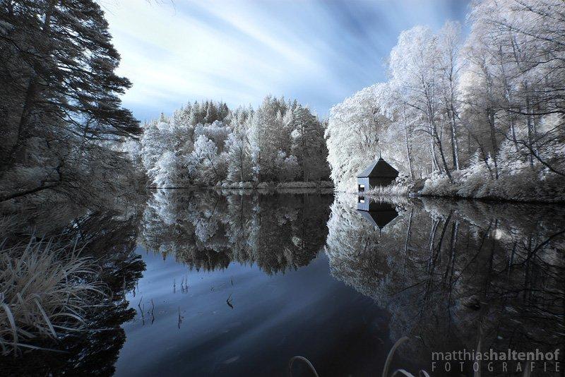 Infrarotfotografie am Loch Dunmore