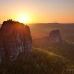Schrammsteine Sonnenuntergang