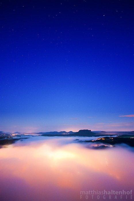 Sterne über dem Nationalpark Sächsische Schweiz