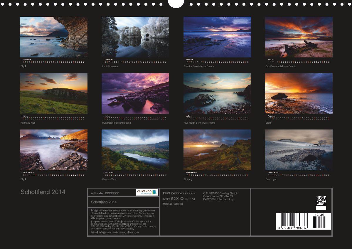 Schottland Kalender 2014