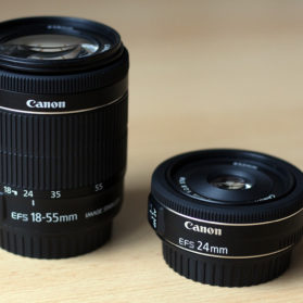Canon EF-S 24mm f/2.8 STM Test - Vergleich zu Canon EF-S 18-55mm IS STM
