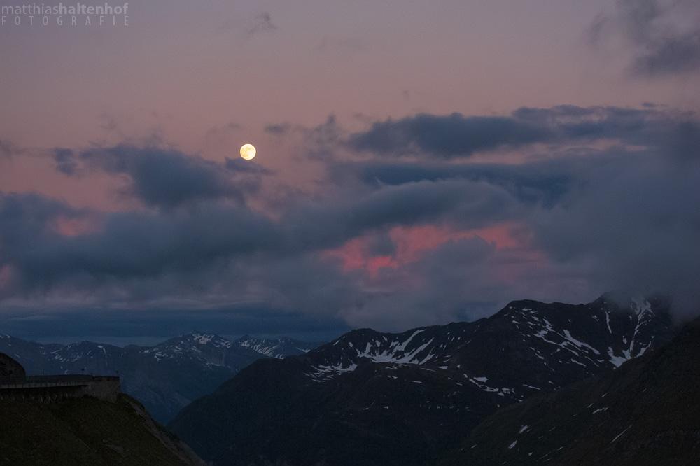 Mondaufgang an der Franz-Josefs-Höhe