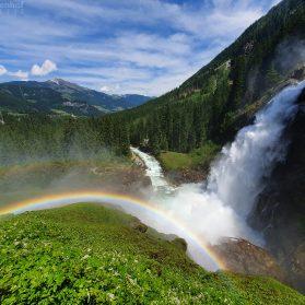 Regenbogen den den Krimmler Wasserfällen
