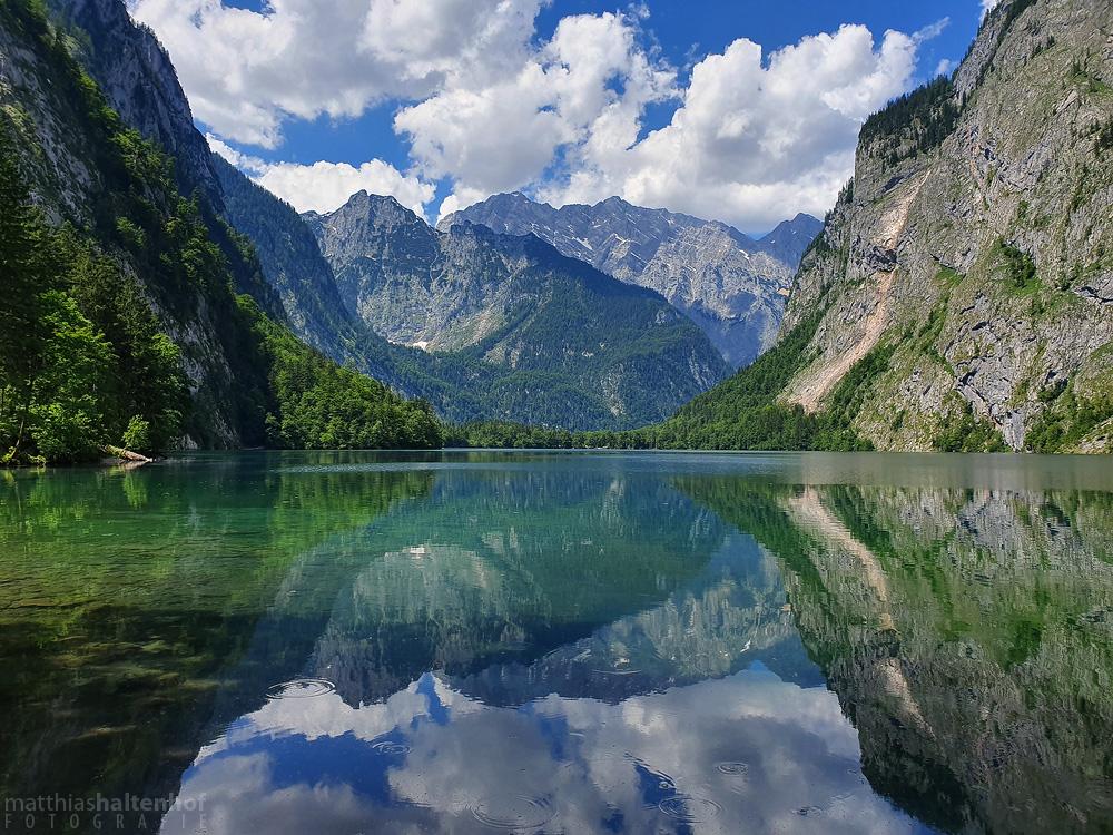 Spiegelung im Wasser des Obersees