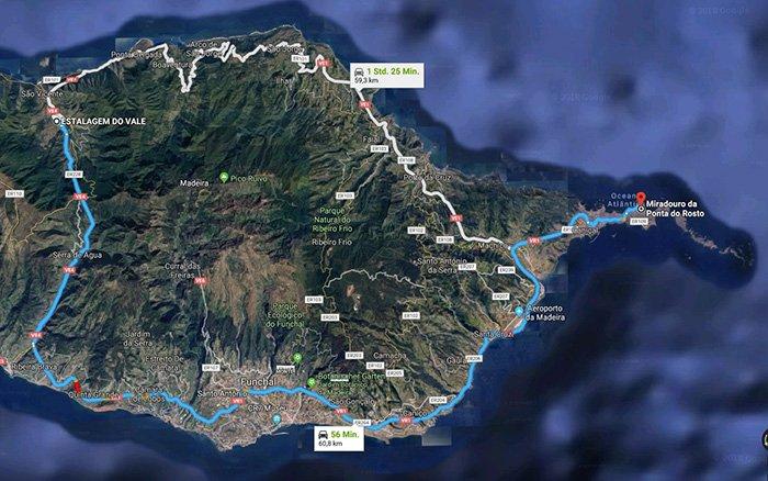 Anfahrtsweg in Google Maps