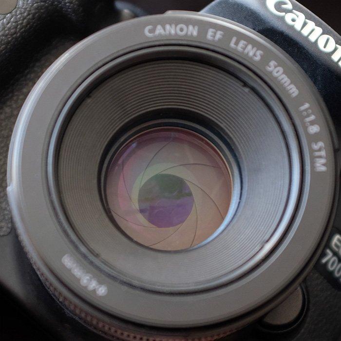 Blende 4.0 bei einem Canon 50 mm 1.8 STM Objektiv