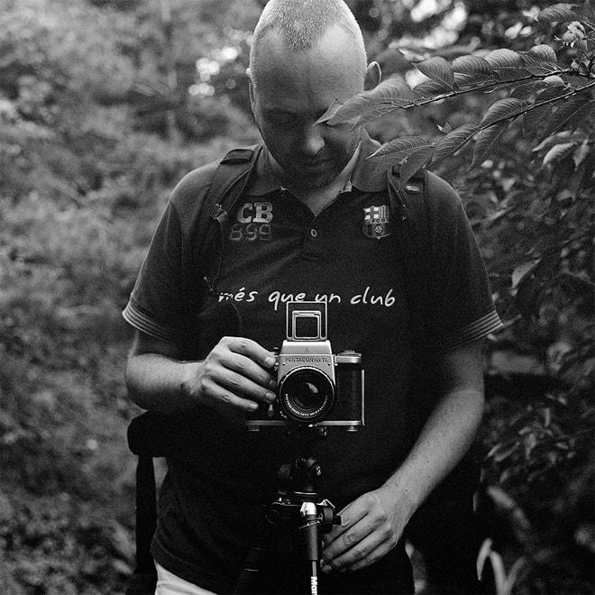 Beim Fotografieren mit der Pentacon Six TL