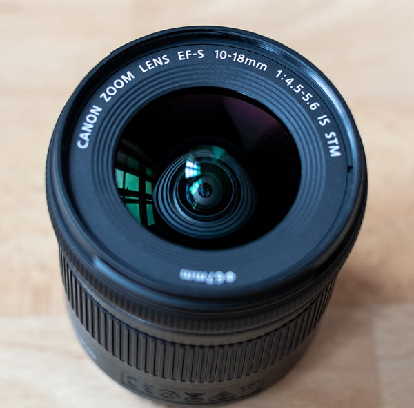 Canon EF-S 10-18mm - Frontlinse