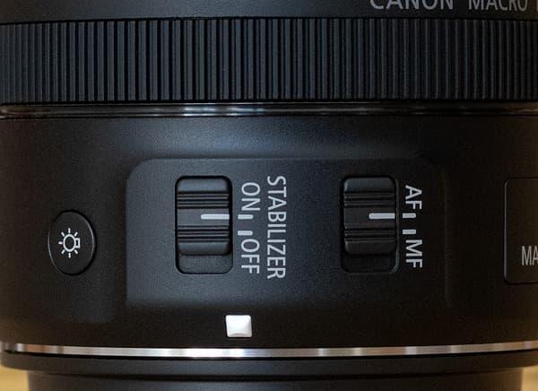 Schalter für AF, IS und LEDs