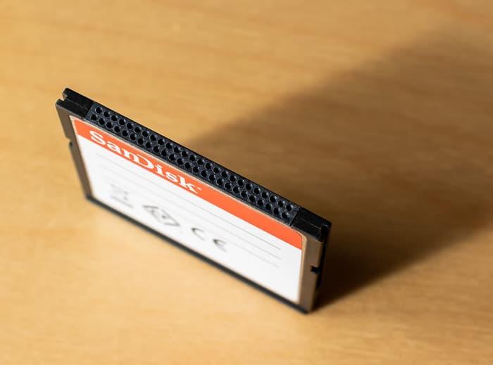 CompactFlash Speicherkarte von oben