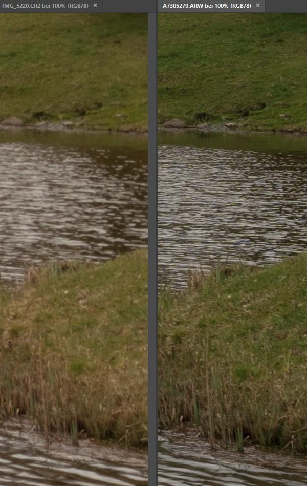 Crop/Vollformat Vergleich bei 22/35 mm - Ecke