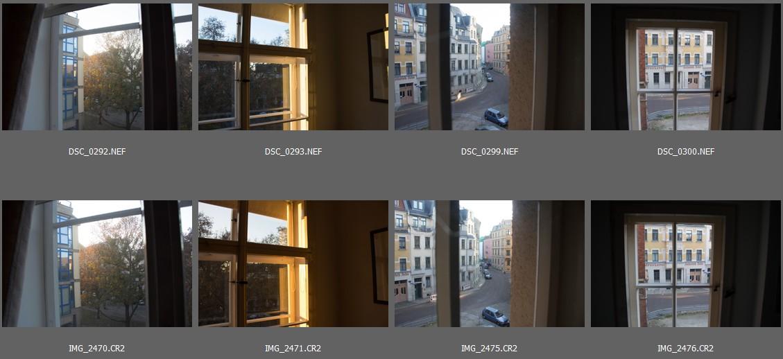 Nikon D7200 vs Canon EOS 700D - Vorschaubilder