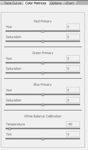 Farbtemperatur für Infrarotfotografie im Adobe DNG Profile Editor einstellen