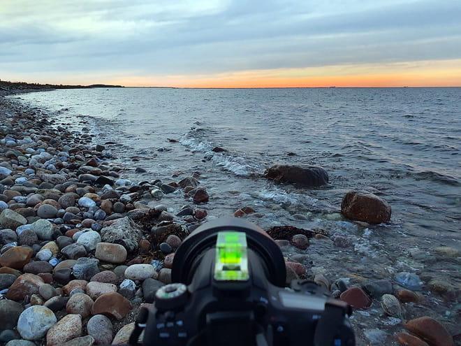 Sonnenuntergang mit Pastellfarben am ersten Abend