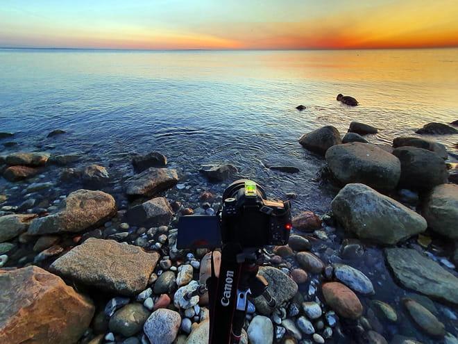 Ein farbintensiver Sonnenuntergang