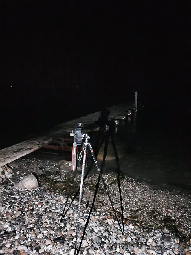 Nachtaufnahme vom Steg