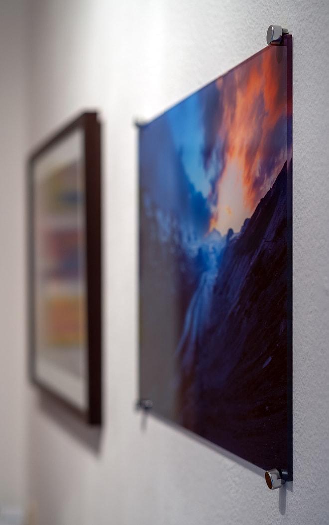 """Acrylglas Druck von """"Pasterze Sunset"""" mit Aluminium Aufhängung"""