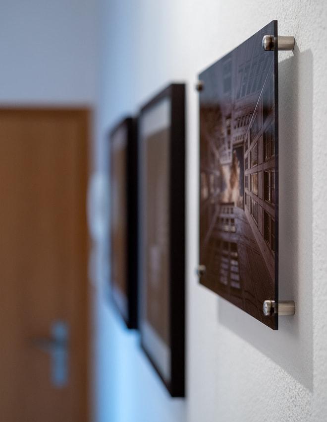"Acrylglas Druck von ""Cloud Launching Pad"" mit Aluminium Aufhängung"