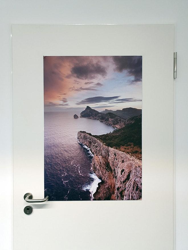 "Alu-Dibond Druck von ""Mallorca 06"" in 90 x 60 cm"