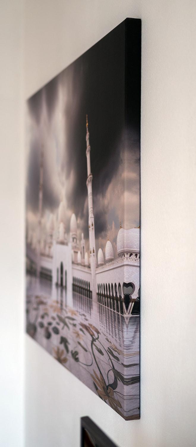 """Foto """"Sheikh Zayed Mosque"""" auf Leinwand mit 40 mm Trägerrahmen"""