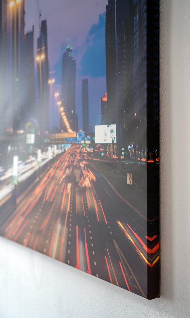 """Foto """"Sheikh Zayed Road"""" auf Leinwand mit 40 mm Trägerrahmen"""