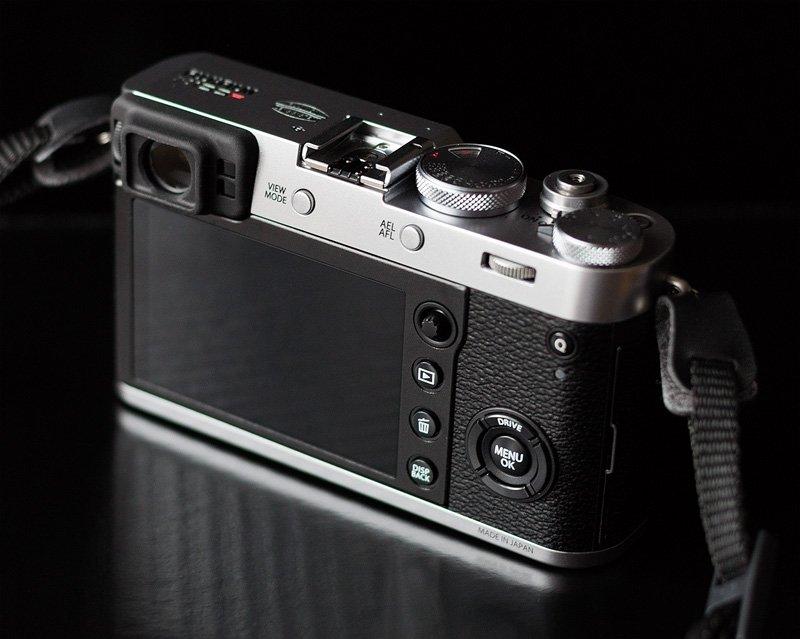 Fujifilm X100F Test - Die Rückseite der X100F