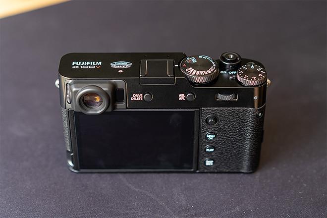 Fujifilm X100V Test: Rückseite