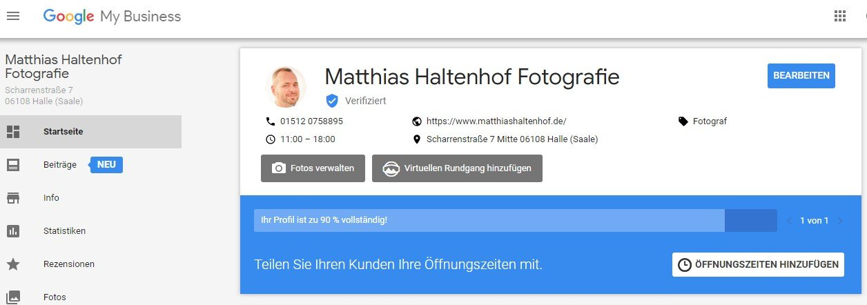 Mein Google My Business Profil