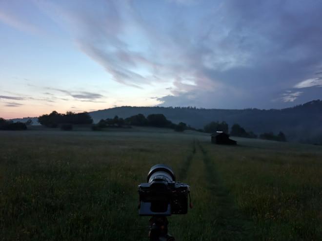 Blaue Stunde auf den Wiesen bei Altenbrak