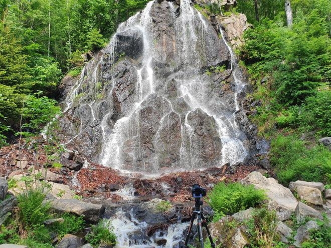 Mittelprächtiges Licht am Radau-Wasserfall