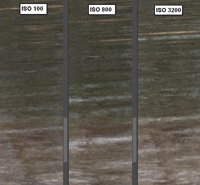 Vergleich der Bildqualität bei unterschiedlichen ISOs