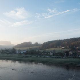 Lilienstein bei Sonnenaufgang
