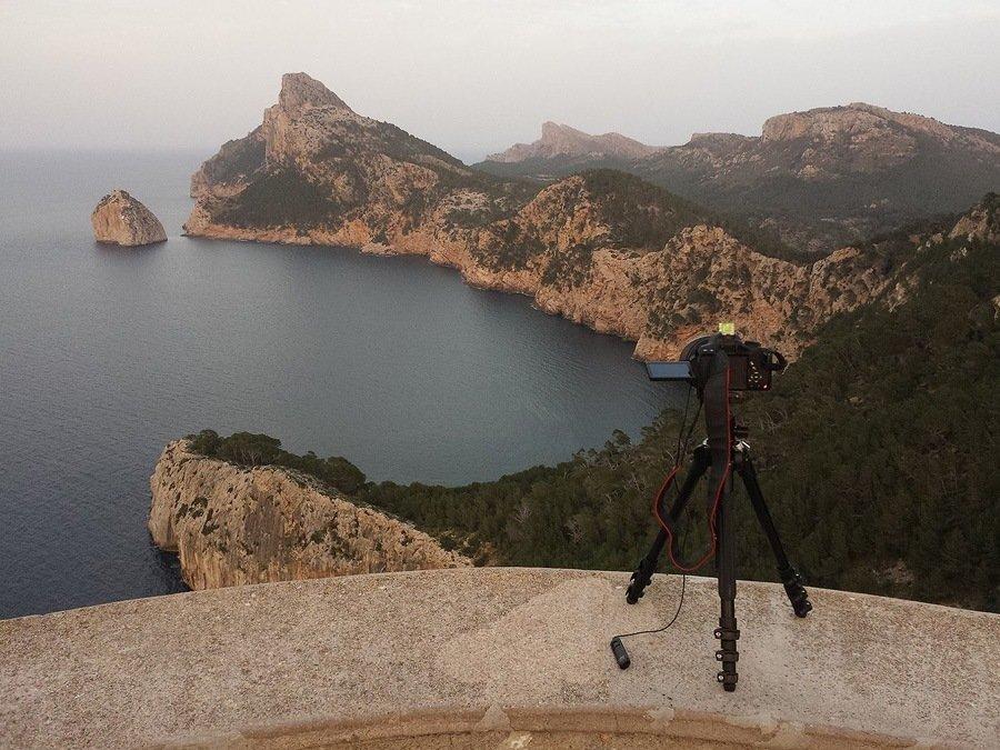 Entstehung einer Langzeitbelichtung am Cap Formentor, Mallorca
