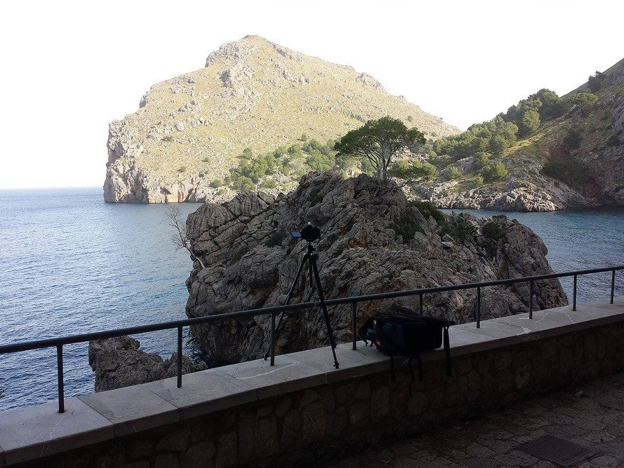 Langzeitbelichtung in Sa Calobra, Mallorca