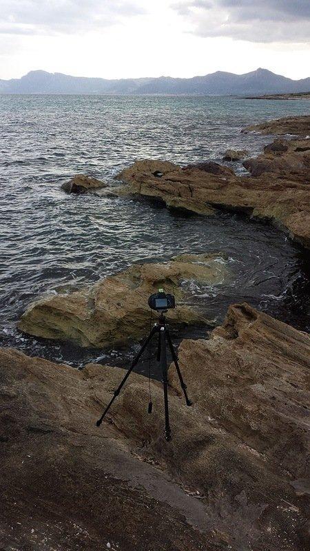 Langzeitbelichtung bei Alcudia auf Mallorca