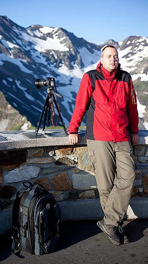 Matthias Haltenhof im Nationalpark Hohe Tauern
