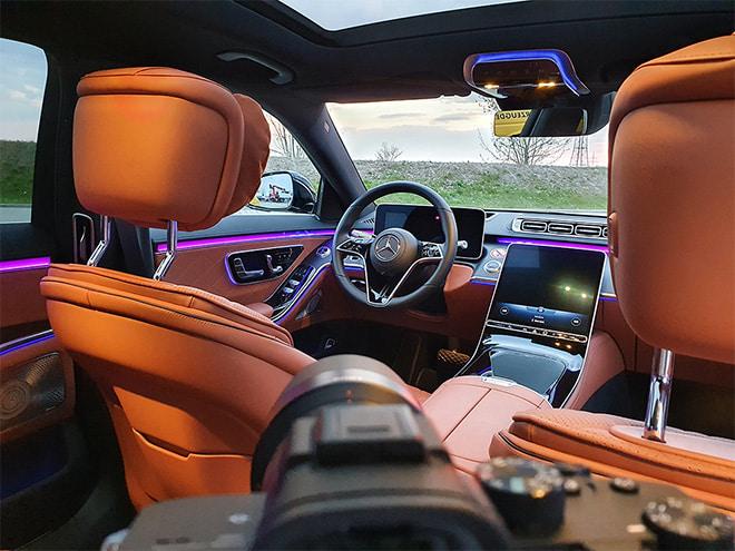 Shooting der Mercedes S-Klasse mit der Sony Alpha 7 III und dem FE 55mm F1.8 ZA