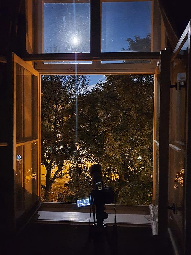 Entstehung der Mondaufnahme