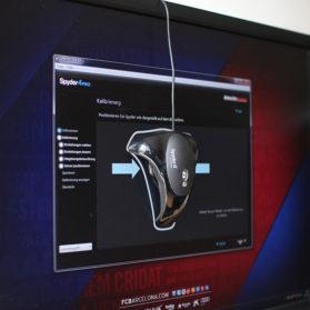 Kalibrierung des Monitors - Positionierung des Spyder