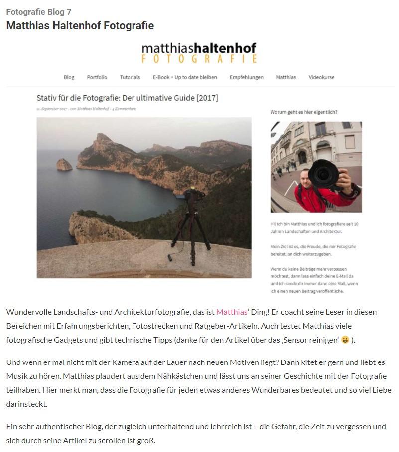 Die 8 besten deutschen Fotografie Blogs