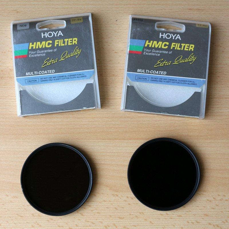 ND Filter ND8 und ND400 von Hoya