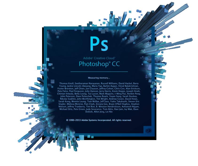 Photoshop CC Startbildschirm