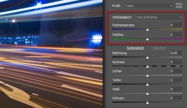 Raw vs JPEG: Weißabgleich