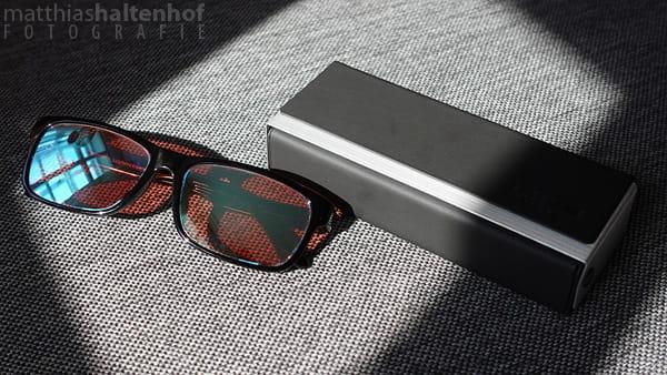 Rot-Grün-Schwäche Brille von Pilestone mit Etui