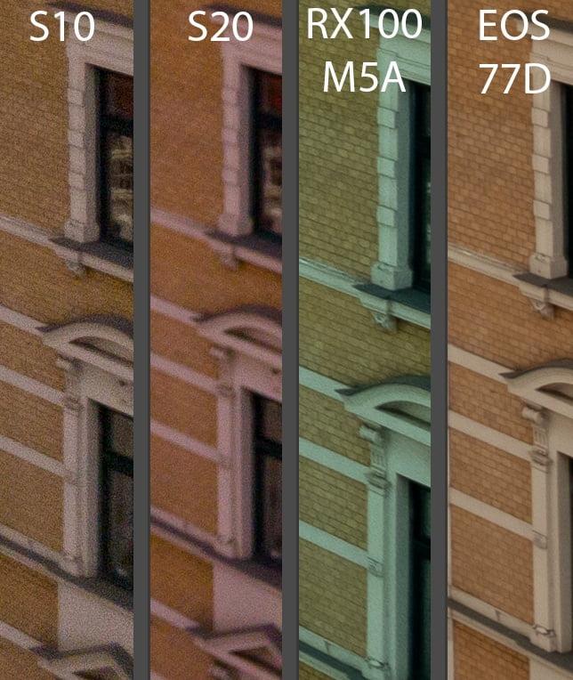 Vergleich der Kameras - Bildecke