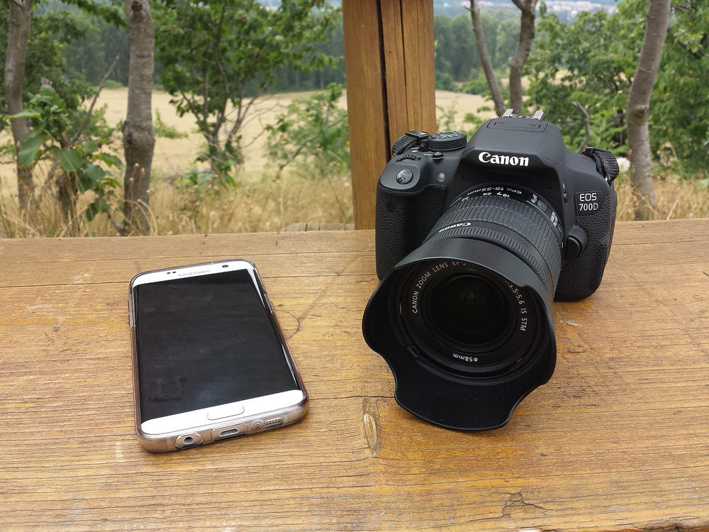 Samsung S7 Edge und Canon EOS 700D Vergleich