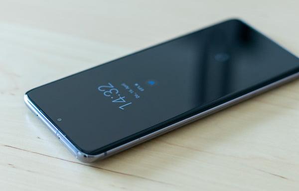 Vorderseite des Samsung Galaxy S20