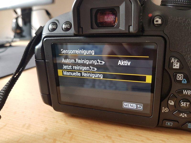 Canon EOS 700D - Manuelle Reinigung